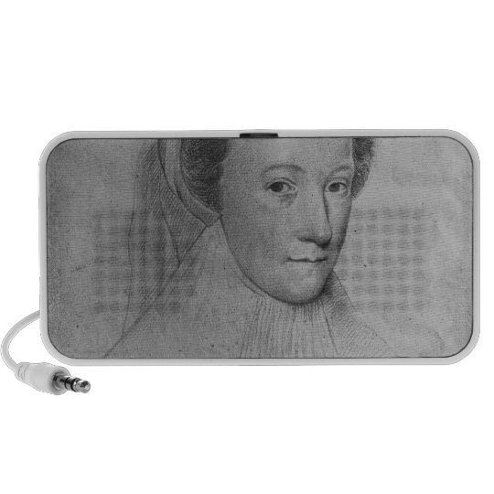 Mary, Queen of Scots  in white mourning, 1560 Portable Speaker