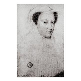 Mary, Queen of Scots  in white mourning, 1560 Poster