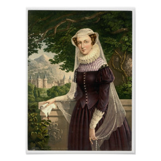 MARY, QUEEN OF SCOTS-PHOTOCHROM PRINT