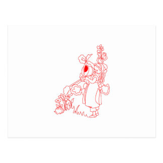 Mary Quite Contrary Postcard