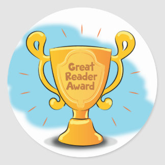 "Mary Reads ""Great Reader Award"" Sticker"