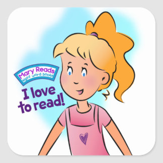 """Mary Reads - """"I Love to Read"""" Stickers"""