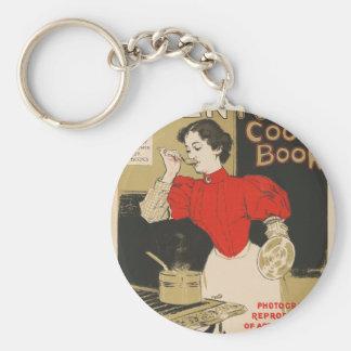 Mary Ronald's century cookbook Basic Round Button Keychain