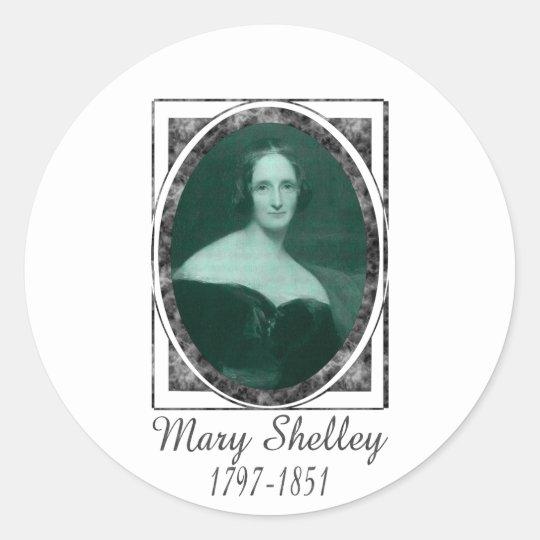 Mary Shelley Classic Round Sticker