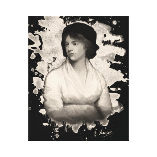 Mary Shelley (Wollstonecraft) tributes Canvas Print