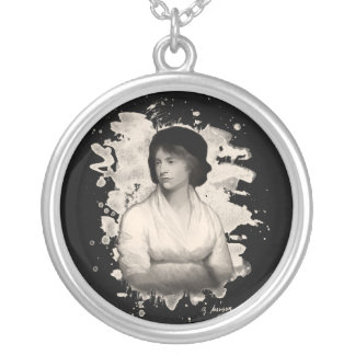 Mary Shelley (Wollstonecraft) tributes Silver Plated Necklace