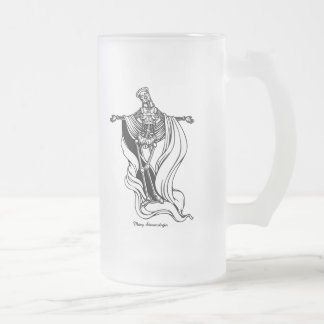 Mary Steam Virgin Frosted Glass Beer Mug