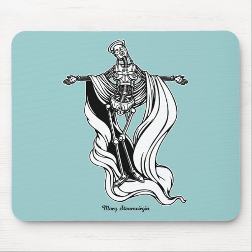 Mary Steam Virgin Mouse Pad