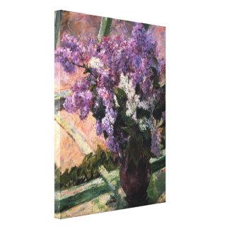 Mary Stevenson Cassatt - Lilacs in a Window 1880 Canvas Print