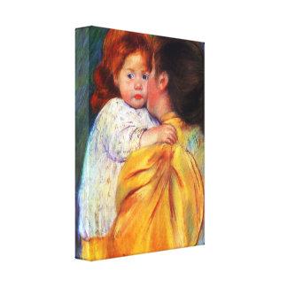 Mary Stevenson Cassatt - Maternal Kiss 1896 Gallery Wrap Canvas