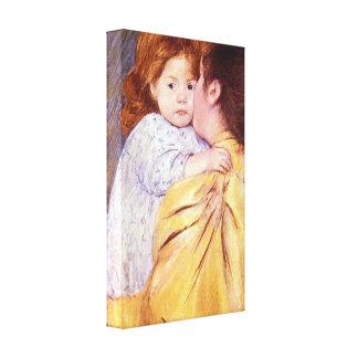 Mary Stevenson Cassatt - The Maternal Kiss Canvas Print