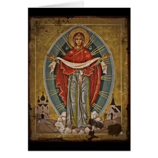 Mary the Protector Theotokos Card