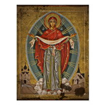 Mary the Protector Theotokos Postcard