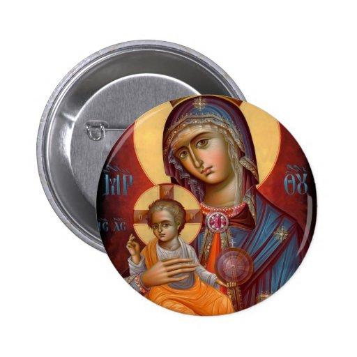 Mary - THEOTOKOS 2 Inch Round Button