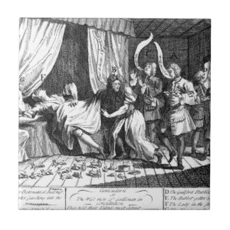 Mary Toft, apparently giving birth to rabbits Ceramic Tile