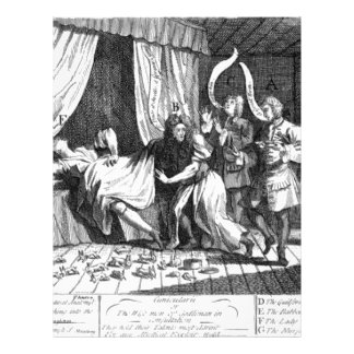 Mary Toft, apparently giving birth to rabbits Letterhead
