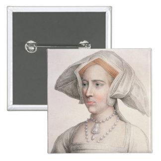 Mary Tudor (1516-58) engraved by Francesco Bartolo Pinback Button
