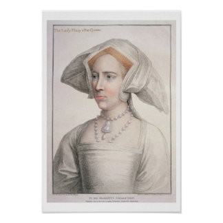 Mary Tudor (1516-58) engraved by Francesco Bartolo Poster