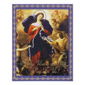 MARY, UNDOER OF KNOTS PRAY FOR US PHOTO PRINT