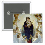 Mary with Angels - Regina Angelorum 2 Inch Square Button