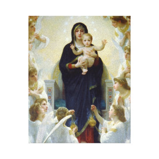 Mary with Angels - Regina Angelorum Canvas Print