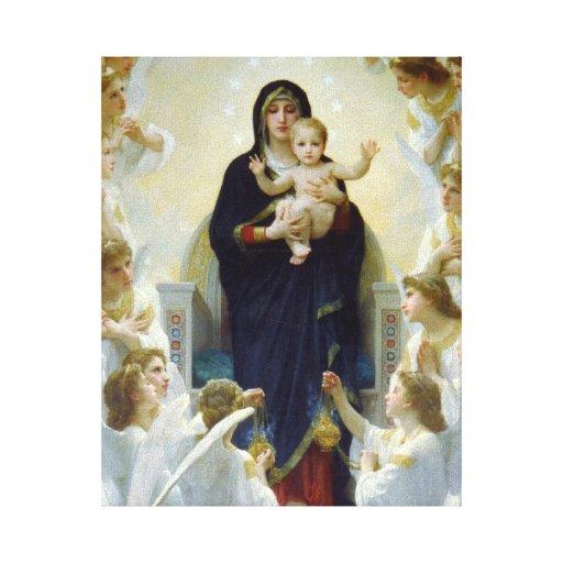 Mary with Angels - Regina Angelorum Canvas Print