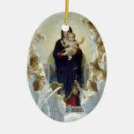 Mary with Angels - Regina Angelorum Christmas Tree Ornament