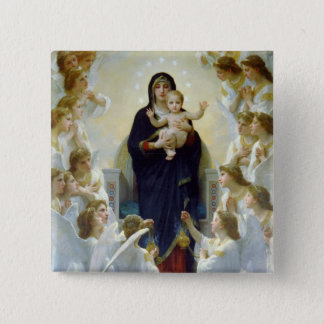 Mary with Angels - Regina Angelorum Pinback Button