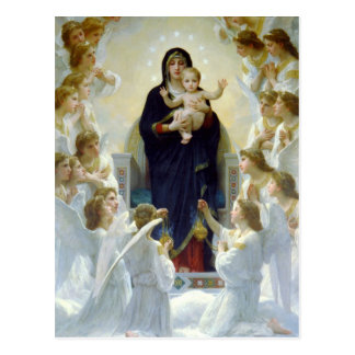 Mary with Angels - Regina Angelorum Postcard
