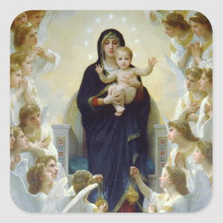 Mary with Angels - Regina Angelorum Square Sticker