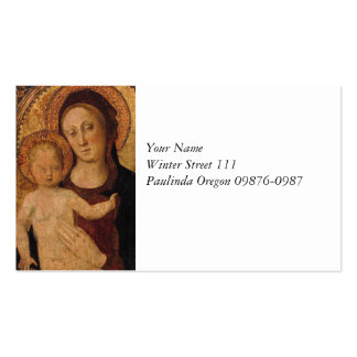 Mary with Baby Jesus Under Arch Double-Sided Standard Business Cards (Pack Of 100)