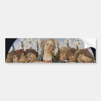 Mary with Child and Singing Angels by Botticelli Bumper Sticker
