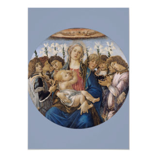 Mary with Child and Singing Angels by Botticelli Card