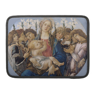 Mary with Child and Singing Angels by Botticelli Sleeve For MacBooks
