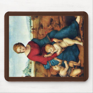 Mary With Christ Child And John The Baptist Mouse Pad
