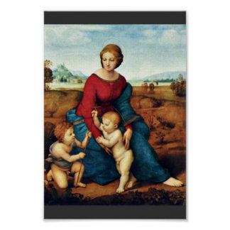 Mary With Christ Child And John The Baptist Poster