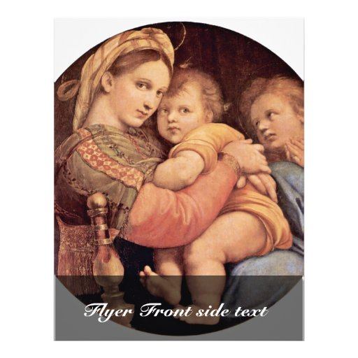 """Mary With Christ Child And John The Baptist Tondo 8.5"""" X 11"""" Flyer"""
