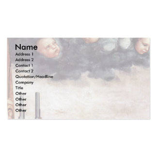 Mary With Christ Child And Saints Double-Sided Standard Business Cards (Pack Of 100)