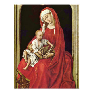 Mary With Christ Child (Madonna Duran) By Rogier Personalized Letterhead
