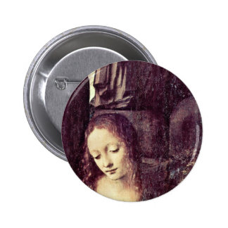 Mary With Christ Child St. John The Baptist As A Pinback Buttons
