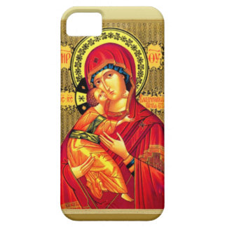 Mary with Jesus, wearing red iPhone SE/5/5s Case
