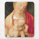Mary with the child squatting mouse pad