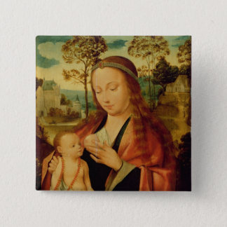 Mary with the Christ Child, early 16th century Pinback Button