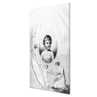 Mary Wollstonecraft Shelley  as a child Canvas Print