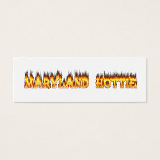 Maryand hottie fire and flames design mini business card