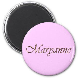 Maryanne Name Branded Gift Item Magnet