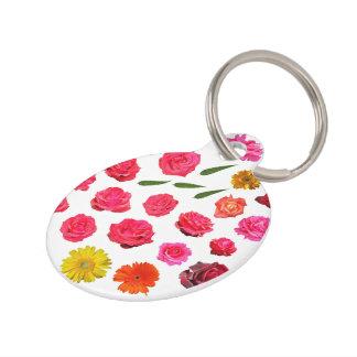 Marygolds y rosas placa para mascotas
