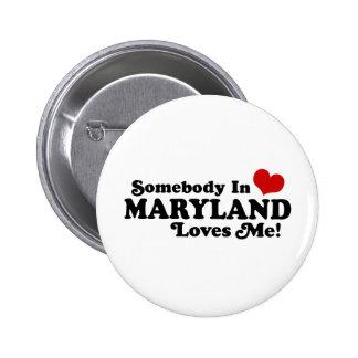 Maryland 2 Inch Round Button