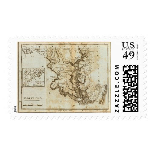Maryland 4 postage stamps