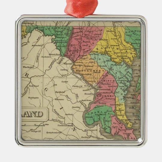 Maryland 5 metal ornament